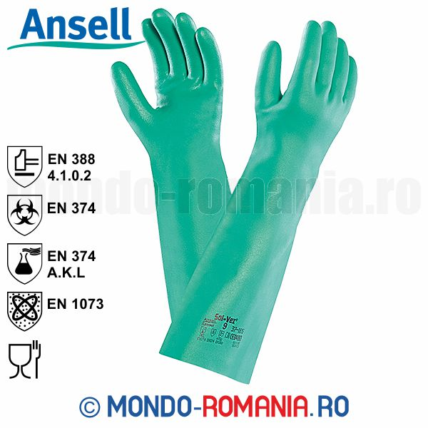 Echipament protectie - Manusa antichimice Ansell SOL-VEX 37-185