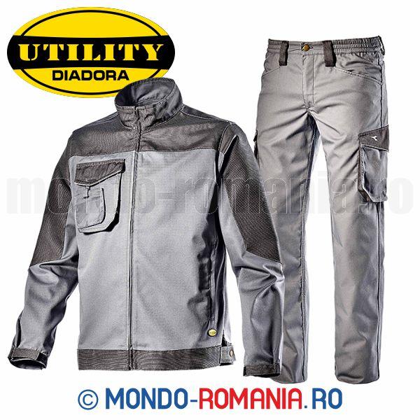 cele mai bune oferte noi speciale jumatate din Jacheta si pantaloni de lucru DIADORA STAFF POLY Set DIADORA Grey ...
